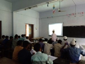 Dr. A.K.Ibrahim Sheriff Head Department of Chemistry taking ICT Class on Thermal Energy (2)