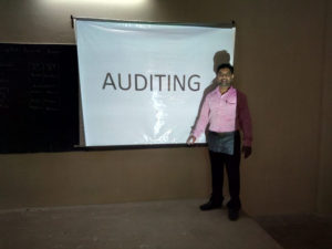 Prof. Rafi taking ICT Class on Auditing subject, Department of Commerce (2)