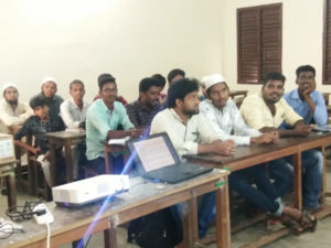 Prof. Rafi taking ICT Class on Auditing subject, Department of Commerce (3)