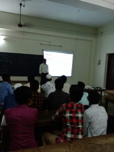 Prof. Rafi taking ICT Class on Auditing subject, Department of Commerce (4)